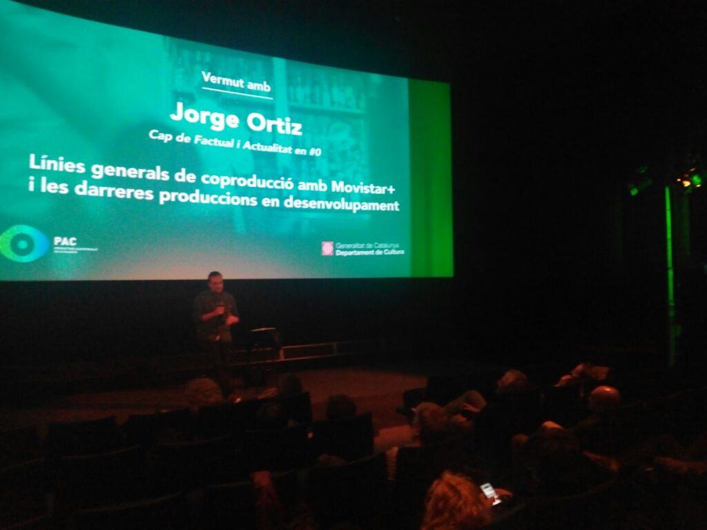 Jorge Ortiz durant la seva intervenció